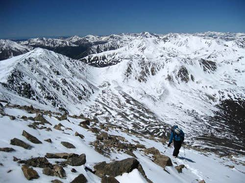 Ascending Elbert Couloir