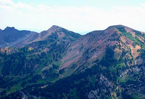 Sugarloaf Peak, near center,...