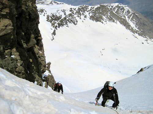 Climber in the North Colouir