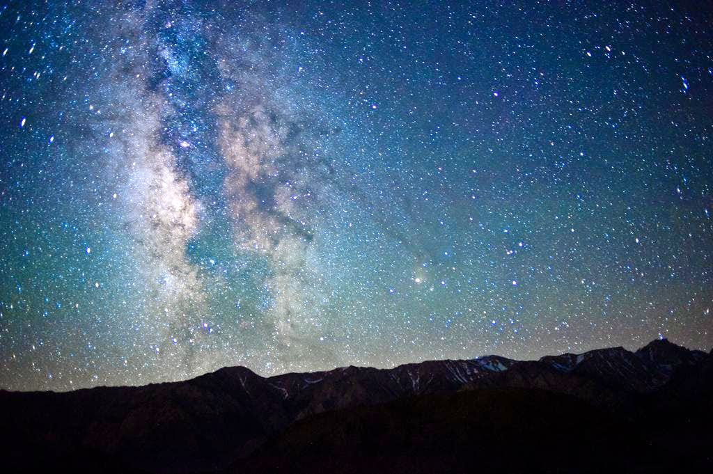 The Milky Way Over the Whitney Range, Alabama Hills, Lone Pine CA