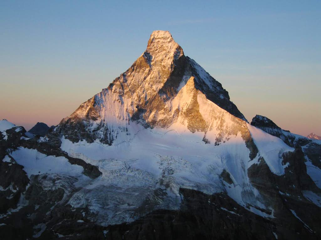 Early rays on the Matterhorn