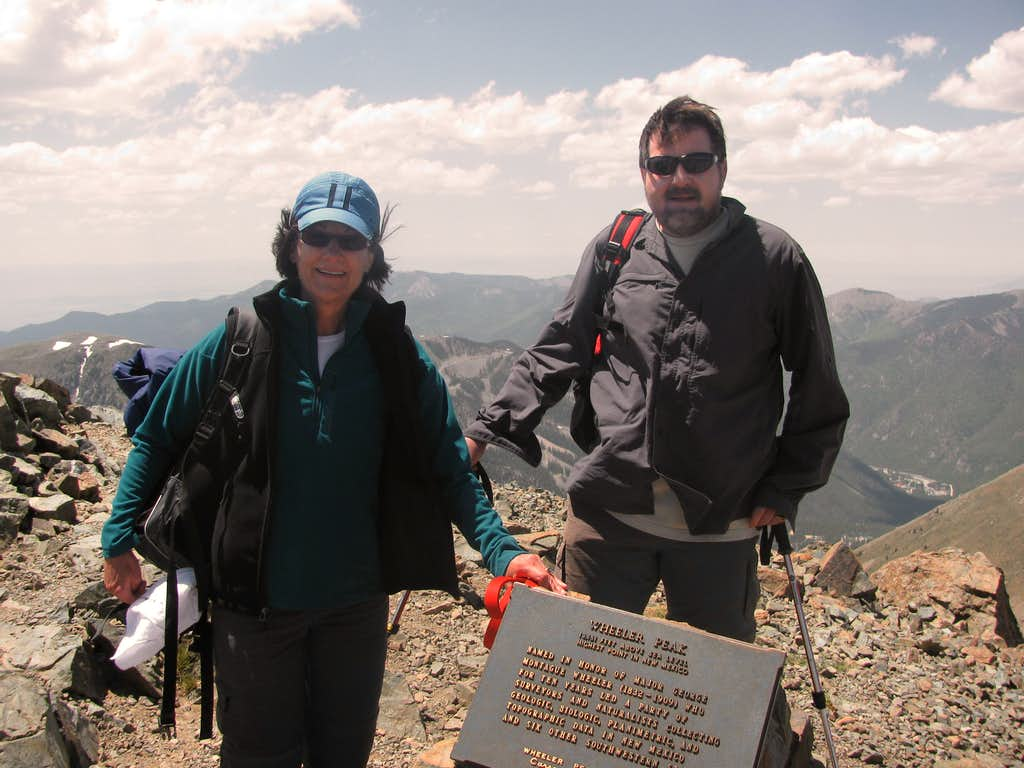 Mark & Betsy on summit