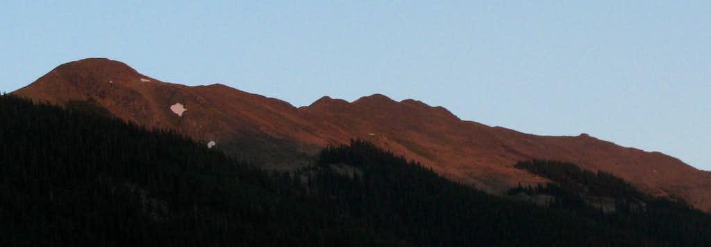 Alpenglow from Taos Ski Valley