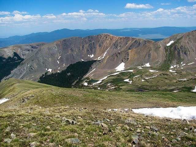 Looking east from Wheeler Peak (NM)