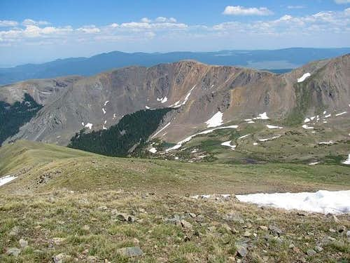 Looking east from Wheeler Peak (NM)