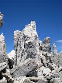 Ruby Peak's summit block..