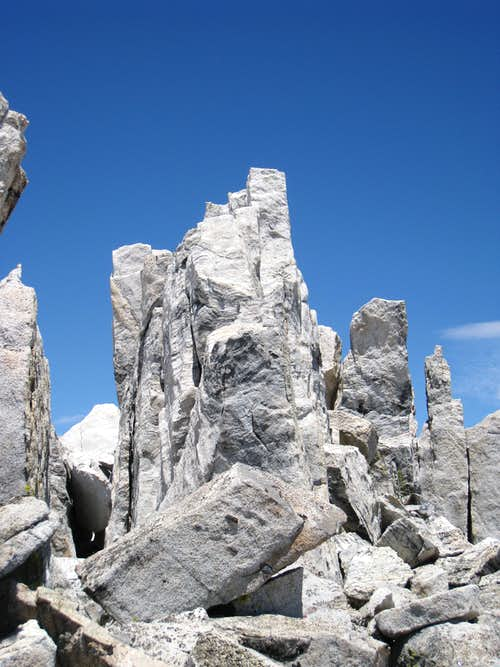 Ruby Peak\'s summit block..
