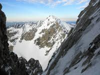 Middle Teton from Stettner Couloir
