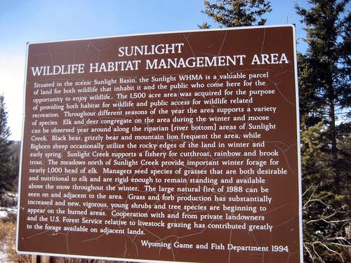 Habitat Area sign