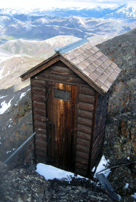 Windy Mountain outhouse