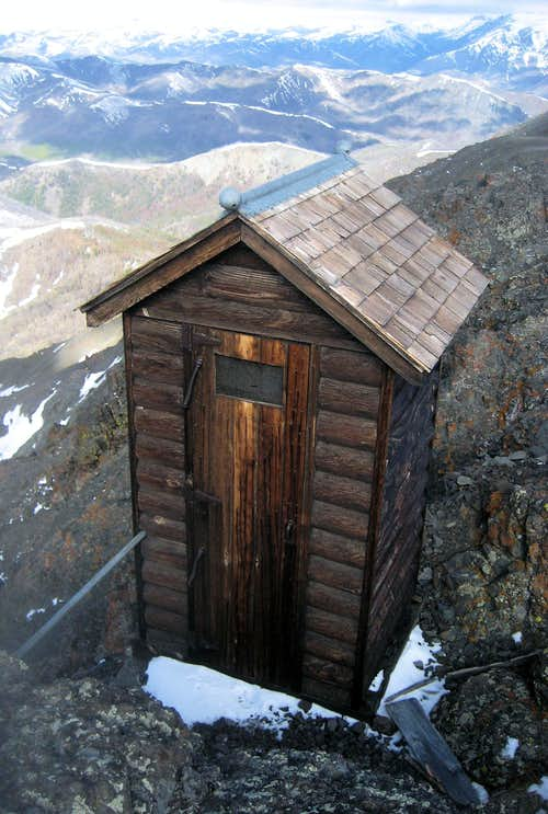 Windy Mountain outhouse