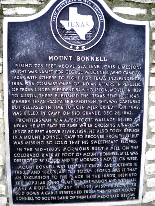 Mount Bonnell Sign
