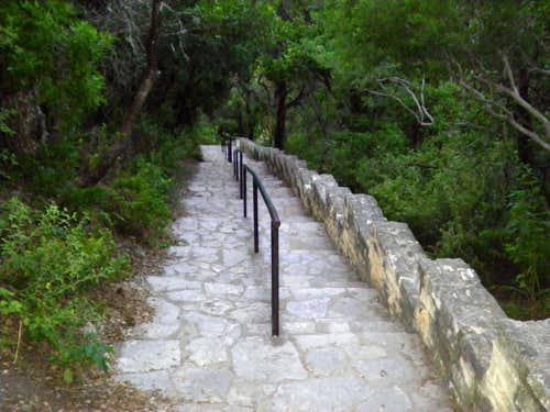 Looking down the Mount Bonnell Steps