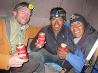 Too much beer at Sajama base camp