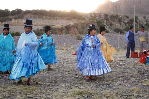 Party in Bolivian Andes Village