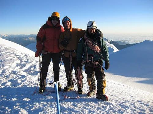 Myself, Craig, and Tao on Illimani Summit