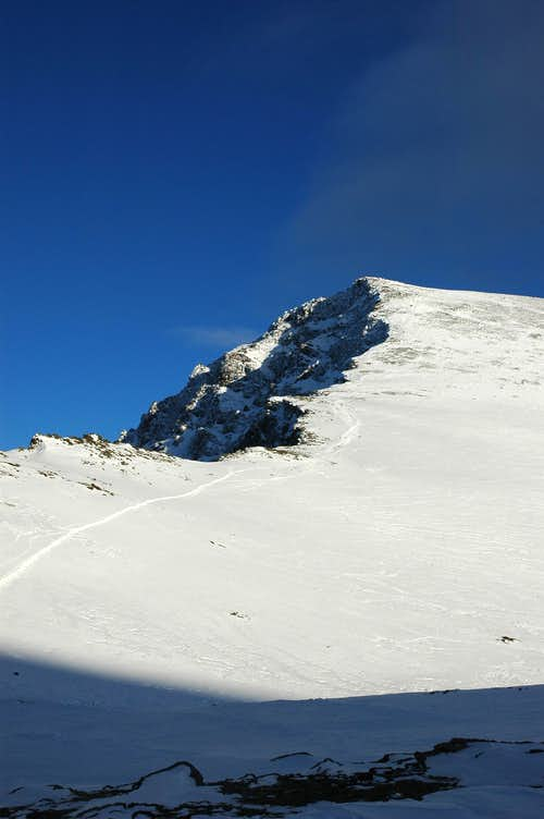 View of summit from trek route