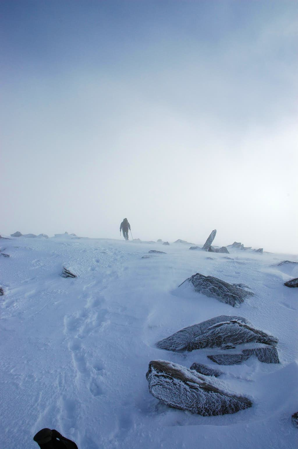 Summiting in the storm