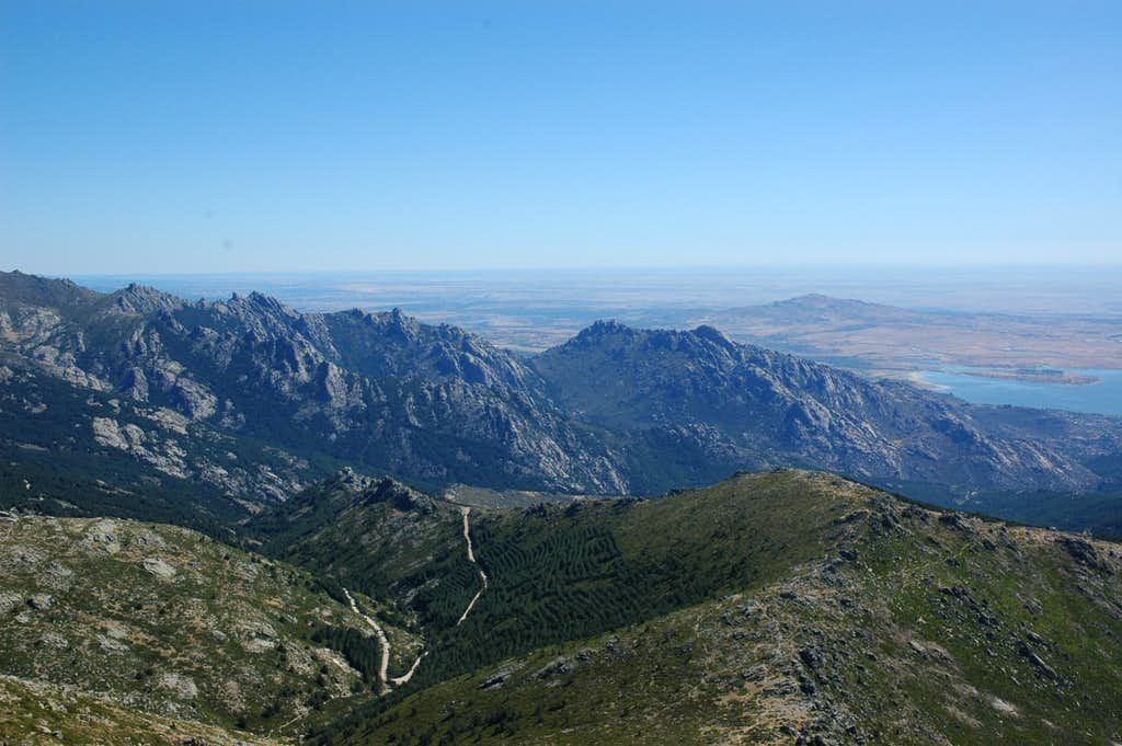 View from summit in August