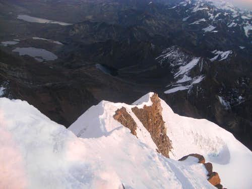 Descending Huayna Potosi