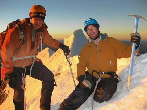 Myself and Craig on Huayna Potosi Summit
