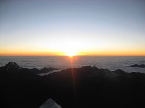 Huayna Potosi Sunrise from the Summit