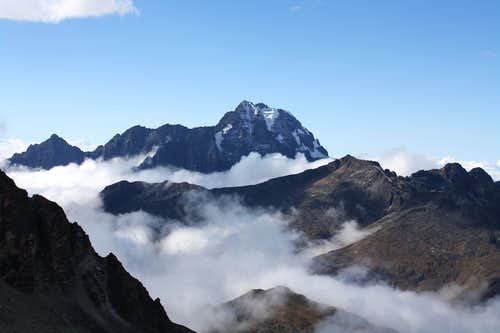 Mountain seen from Huayna Potosi Refugio