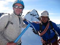 Craig and Illacio after climbing Pequeno Alpamayo