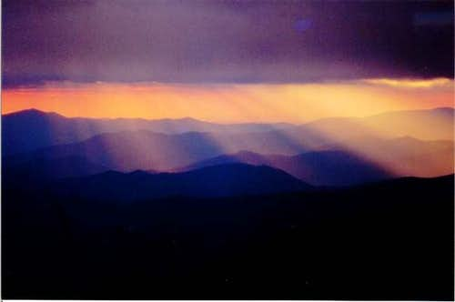 Sunset from Mount Leconte