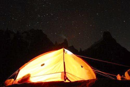 Night on mountains