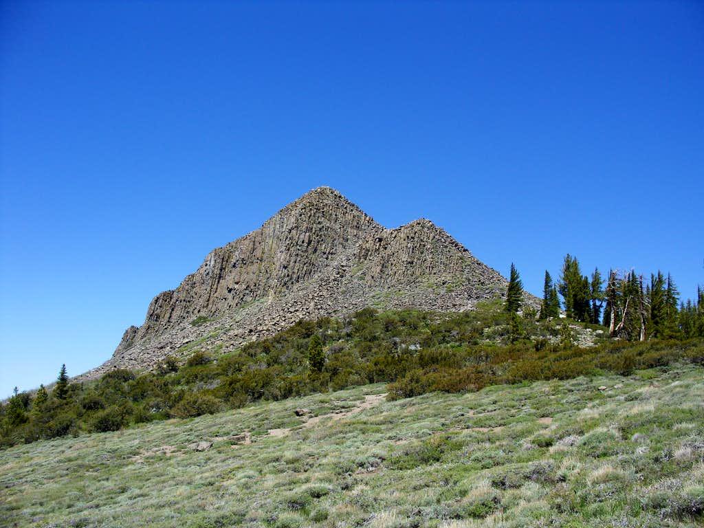 Looking back at Pickett Peak on the way to Hawkins Peak
