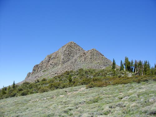 Looking back at Pickett Peak on the way to Hawkins Peak