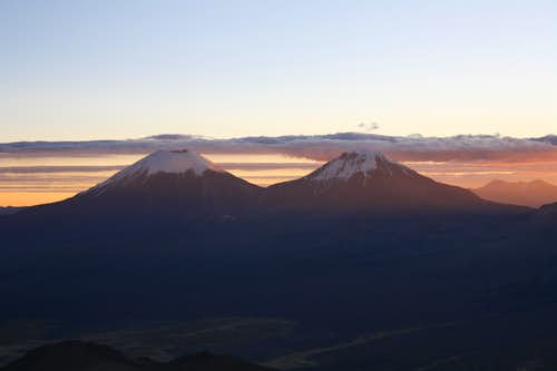 Sunset from Sajama High Camp