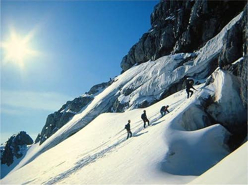 At the base crevasse of the...