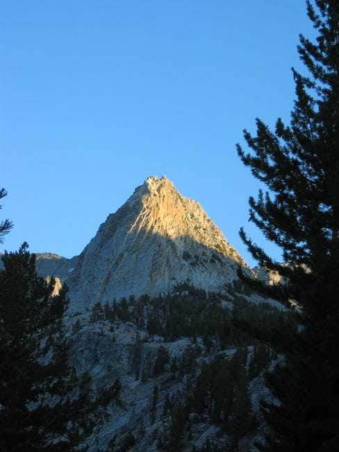Crystal Crag in alpenglow as...