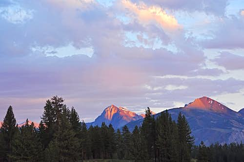 Mount Morrison at sunset