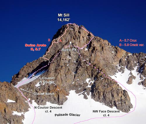 Mt Sill Routes