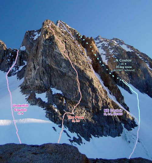 Thunderbolt E Buttress Routes