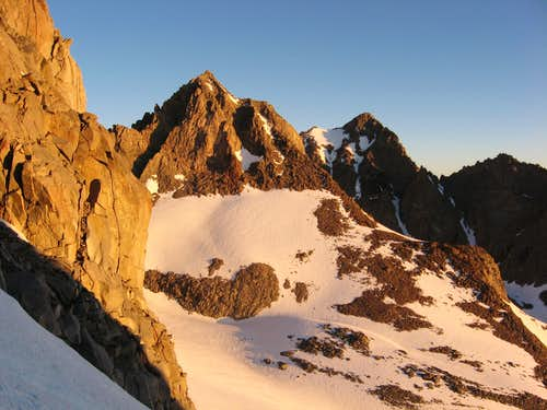 Mt Winchell at Sunrise from the N Couloir