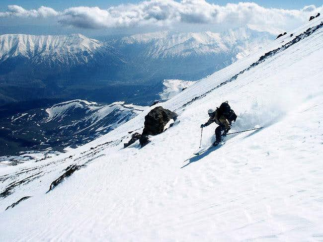 Skiing at Damavand's slope,...