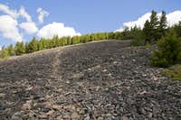 Ascending talus slopes