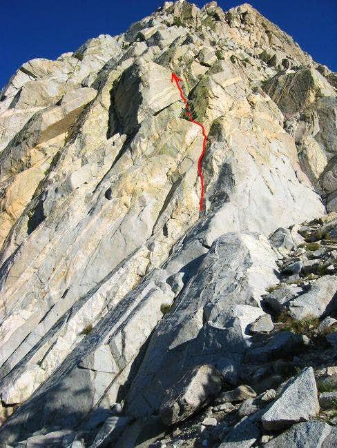 5.7 start to the N Arete of...