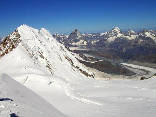 Lyskamm and Materhorn.