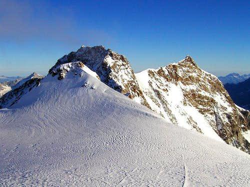 Zumsteinspitze, Dufourspitze...