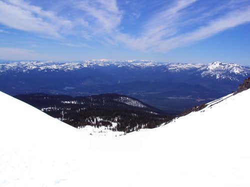 View from the top of Avalanche Gulch