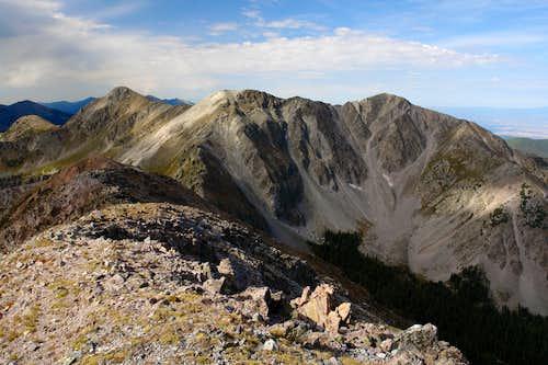 North Truchas Peak: summit view southwest