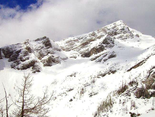 Snowfield and south-east face...