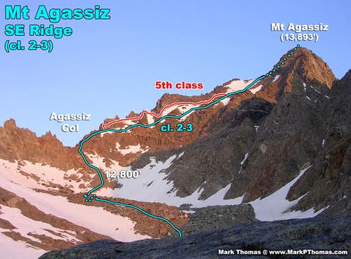 Descent Routes from Mt Agassiz