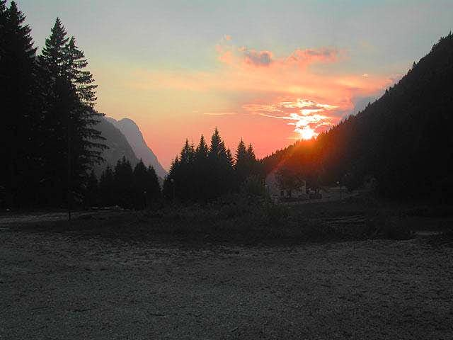 sunset at Sella Nevea