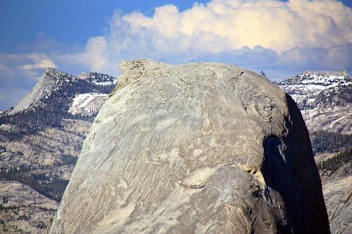 Half Dome south side telephoto from Illilouette Ridge